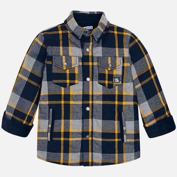 PRESCHOOL BOYS LINED OVERSHIRT - HONEY