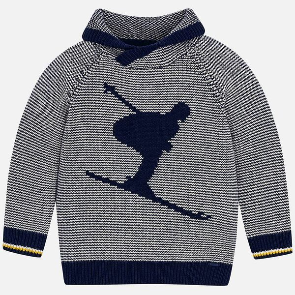 PRESCHOOL BOYS WRAP-AROUND COLLAR SWEATER - ORION