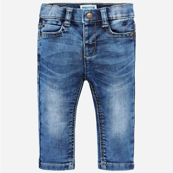 INFANT BOYS SOFT DENIM TROUSERS - BASIC