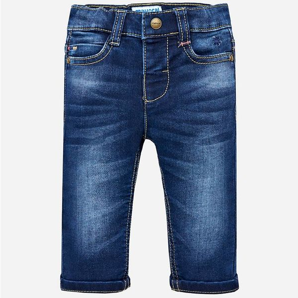 INFANT BOYS SOFT DENIM TROUSERS - DARK