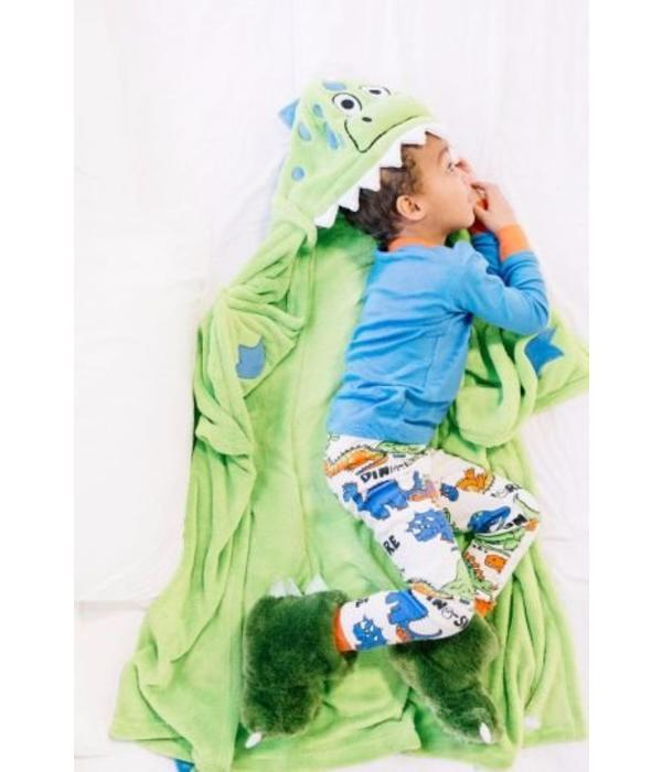 LAZY ONES DINOSAUR CRITTER BLANKET