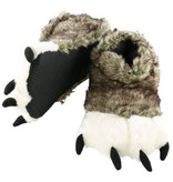 LAZY ONES WOLF PAW SLIPPERS