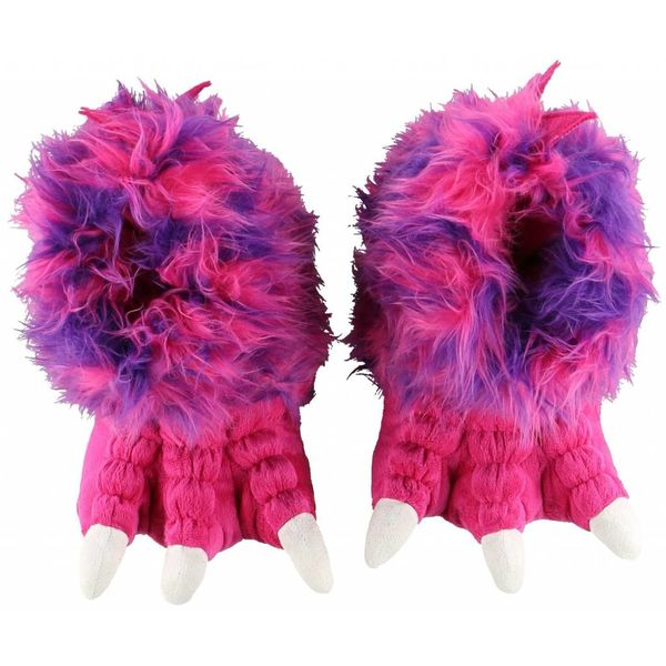 PINK MONSTER PAW SLIPPERS