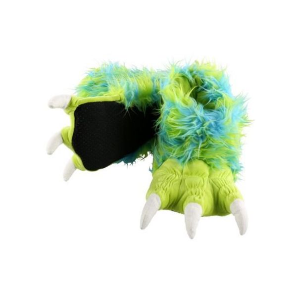 GREEN MONSTER PAW SLIPPERS