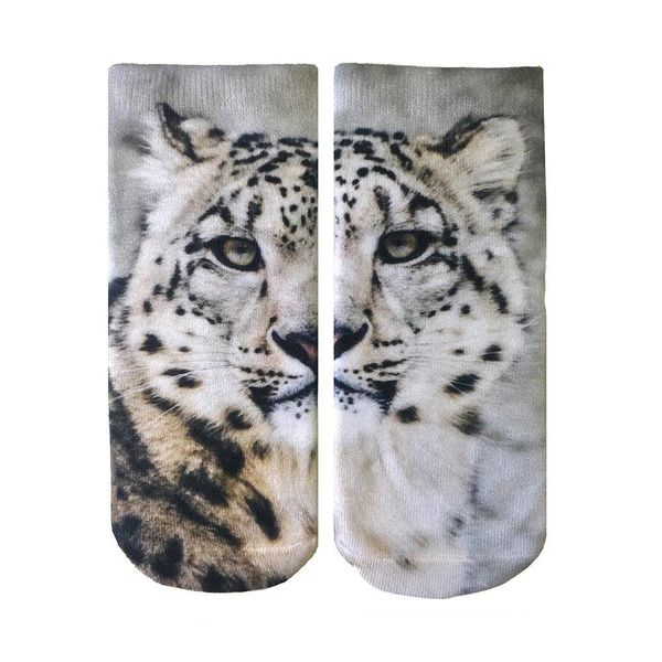 SNOW LEOPARD ANKLE SOCKS