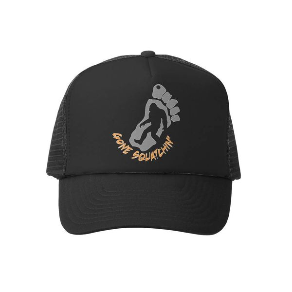 GONE SQUATCHIN KIDS TRUCKER HAT-BLACK