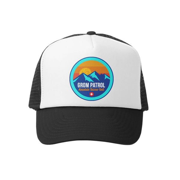 MOUNTAIN PATROL BOYS TRUCKER HAT -BLACK