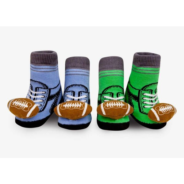 FOOTBALL RATTLE SOCKS- 0-12 MONTHS