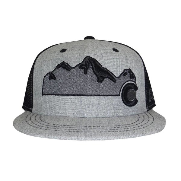 COLORADO MOUNTAIN TRUCKER HAT - HEATHER