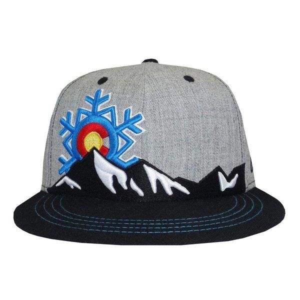 COLORADO SNOWFLAKE FLAT BILL SNAPBACK - GREY/BLACK