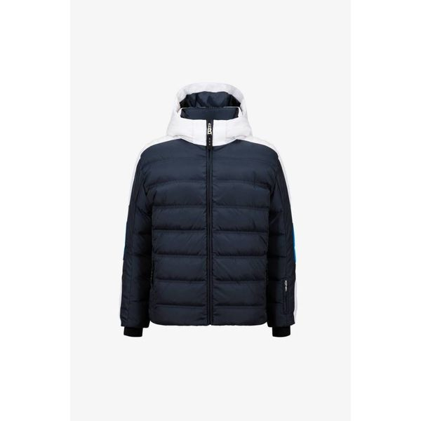 BOYS JEROME-D SKI JACKET - WHITE/NAVY/BLUE