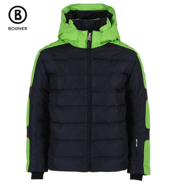 BOYS JEROME-D SKI JACKET - GREEN/NAVY
