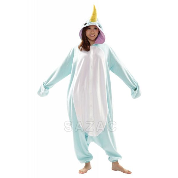 BLUE NARWHAL ONESIE - ADULT (5FT-6FT)