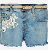 MAYORAL INFANT GIRLS EMBROIDERED DENIM SHORTS