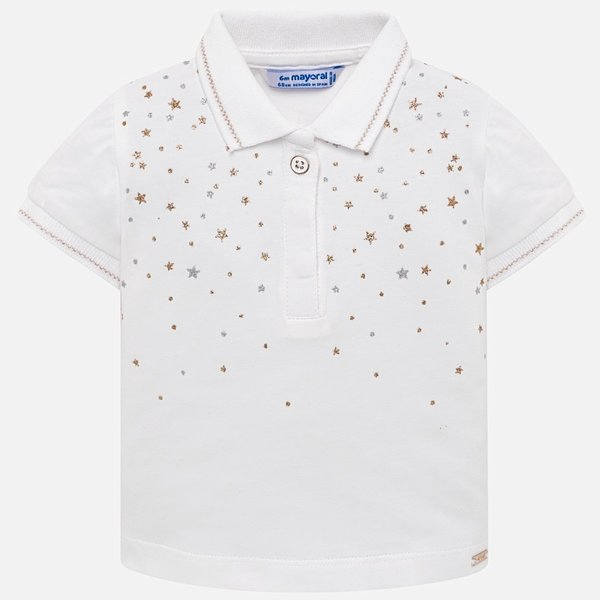 INFANT GIRLS SHORT SLEEVED STAR POLO SHIRT
