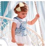 MAYORAL INFANT GIRLS TULLE DUNGAREE SHIRT