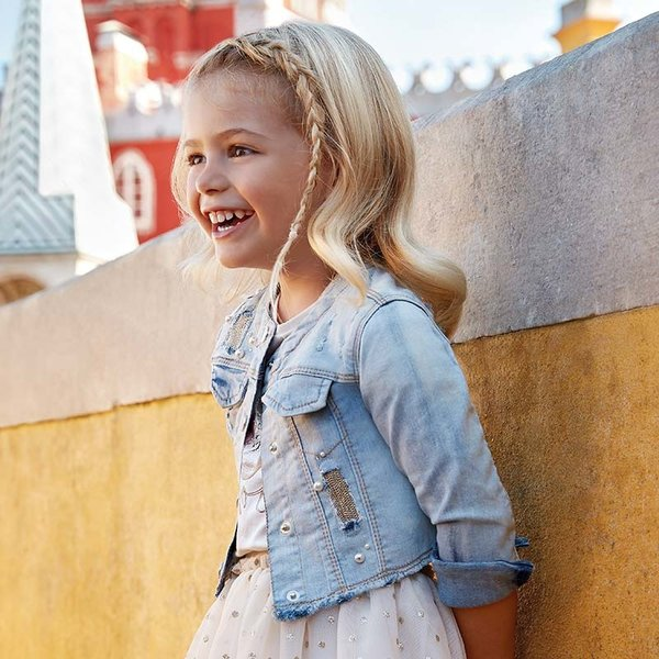 PRESCHOOL GIRLS DECORATED DENIM JACKET