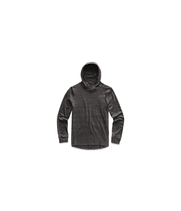 THE NORTH FACE JUNIOR BOYS TRI-BLEND PULLOVER HOODIE - TNF BLACK