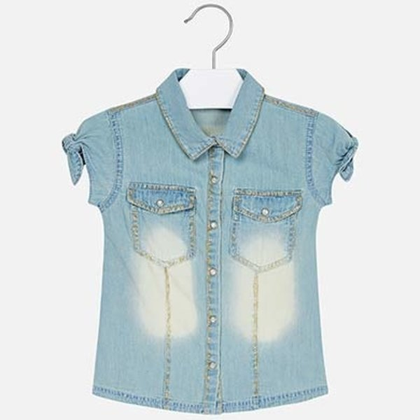 PRESCHOOL GIRLS DENIM BLOUSE