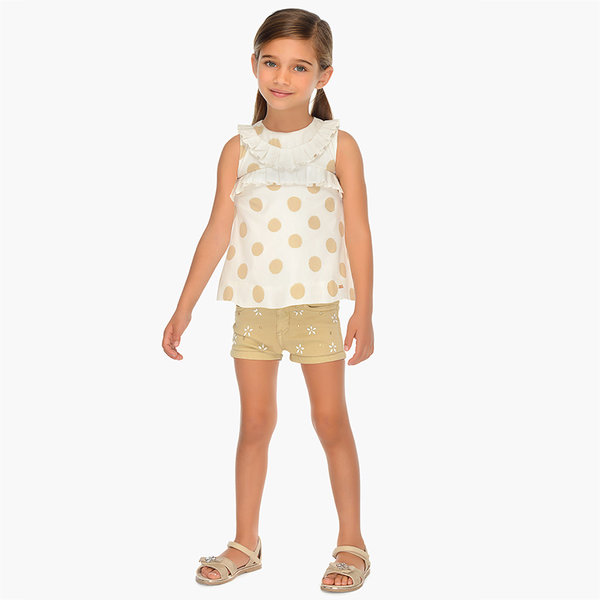 PRESCHOOL GIRLS SHORTS WITH BELT