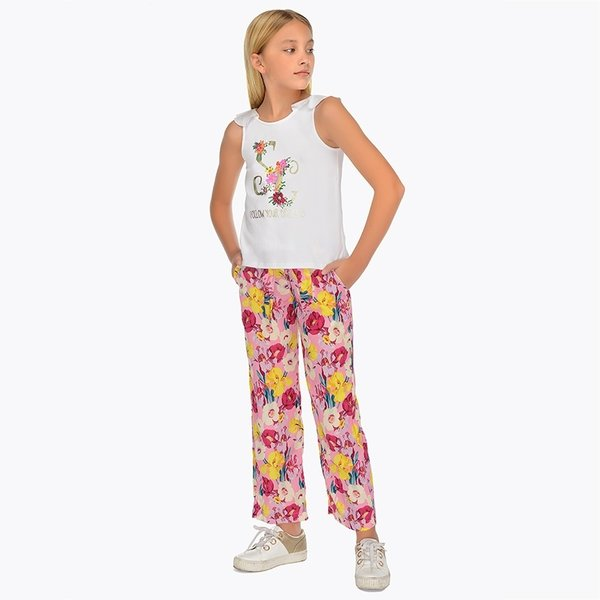 JUNIOR GIRLS FLORAL TROUSERS