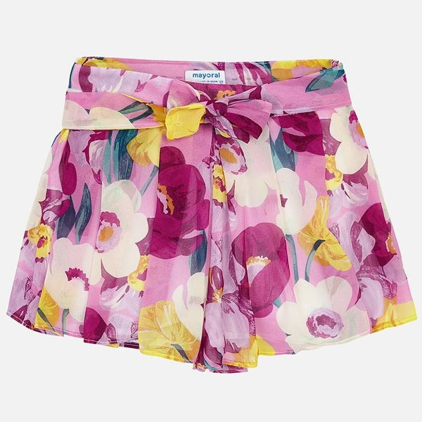 JUNIOR GIRLS PATTERNED CHIFFON SKORT