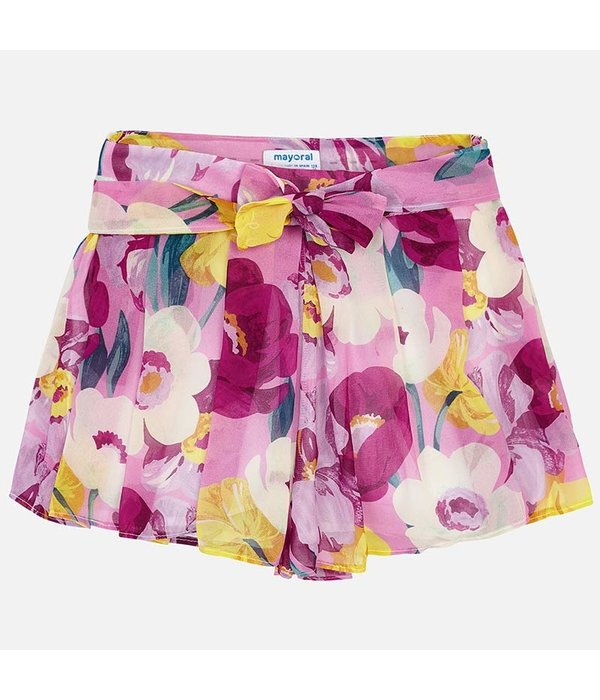 MAYORAL JUNIOR GIRLS PATTERNED CHIFFON SKORT
