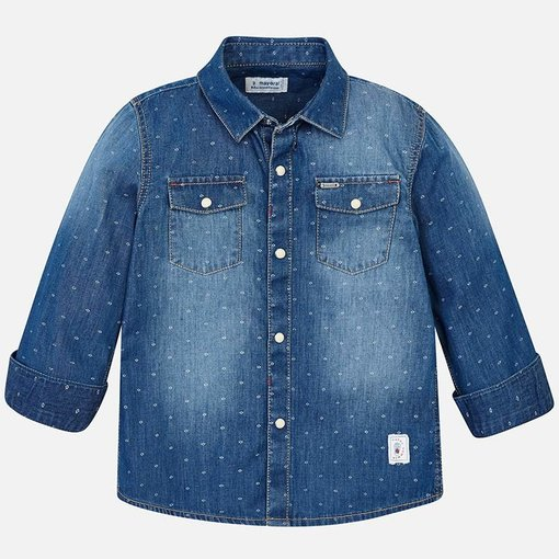 MAYORAL PRESCHOOL BOYS LONG SLEEVED DENIM SHIRT