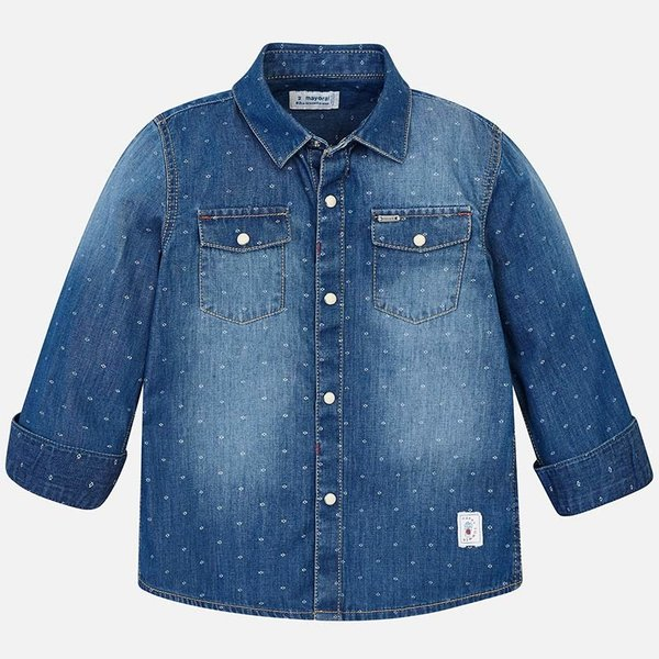 PRESCHOOL BOYS LONG SLEEVED DENIM SHIRT