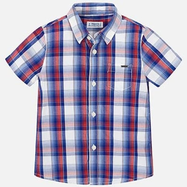PRESCHOOL BOYS SHORT SLEEVED CHECKERED SHIRT - FIESTA