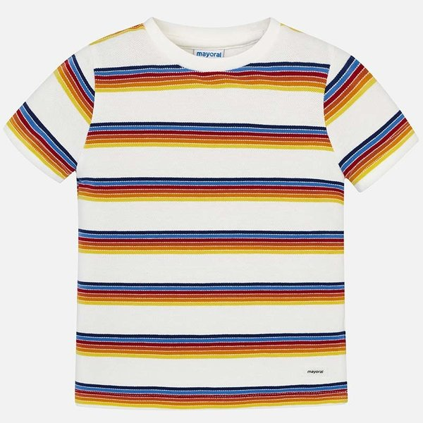 PRESCHOOL BOYS SHORT SLEEVED STRIPED T-SHIRT
