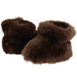 ACORN BROWN BEAR BABY SLIPPERS - 0-6 MONTHS ONLY