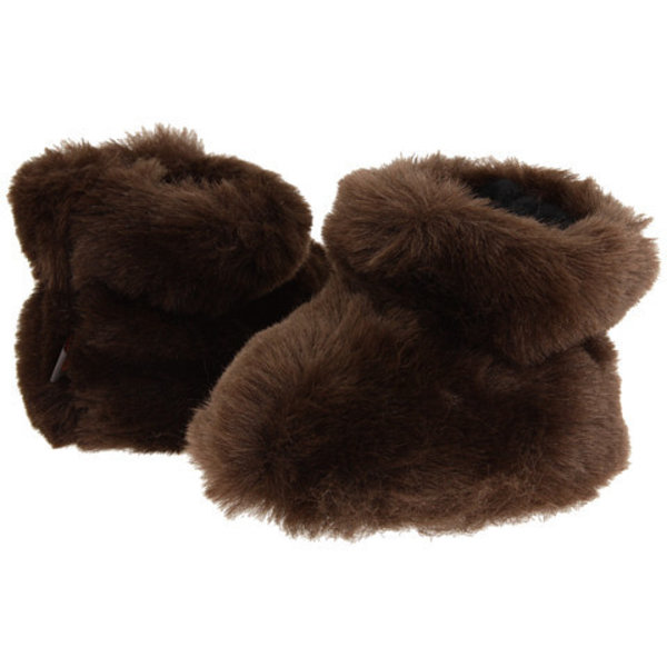 BROWN BEAR BABY SLIPPERS - 0-6 MONTHS ONLY