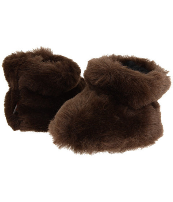 ACORN BROWN BEAR BABY SLIPPERS