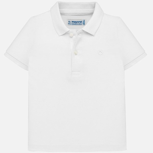 INFANT BOYS SHORT SLEEVED BASIC POLO - WHITE