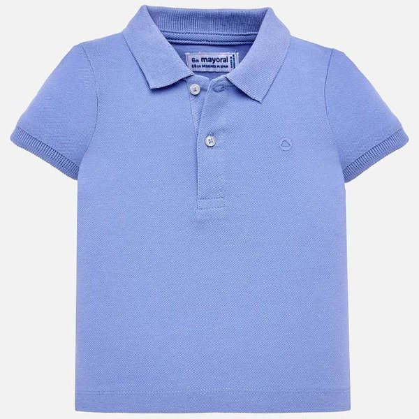 INFANT BOYS SHORT SLEEVED BASIC POLO - LIGHT BLUE