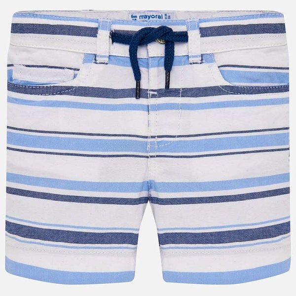 INFANT BOYS STRIPED BERMUDA SHORTS