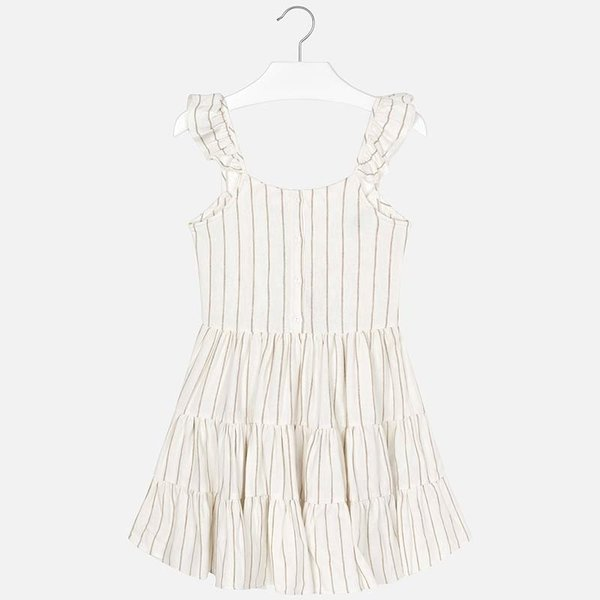 JUNIOR GIRLS STRAPPY STRIPED DRESS