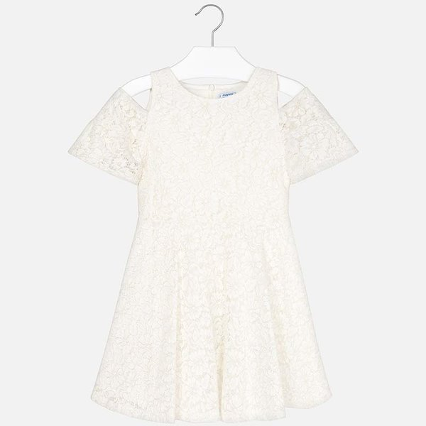 JUNIOR GIRLS OFF-THE-SHOULDER LACE DRESS