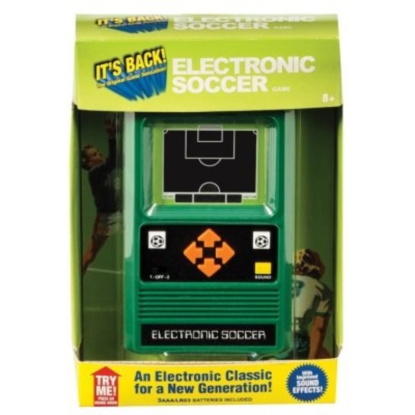 ELECTRONIC HANDHELD GAME - SOCCER - AGES 8+
