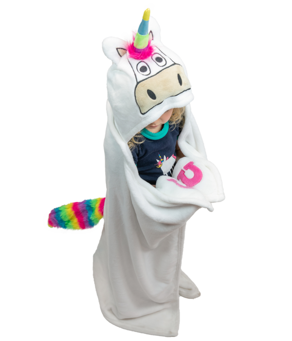 LAZY ONES UNICORN CRITTER BLANKET