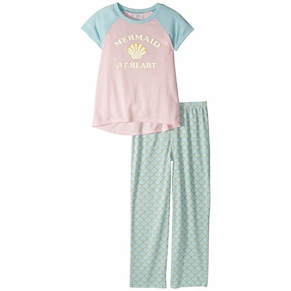 PRESCHOOL GIRLS MERMAID AT HEART PJ SET - SIZE 4 ONLY