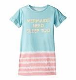 PJ SALVAGE PRESCHOOL GIRLS MERMAIDS NEED SLEEP TOO GOWN