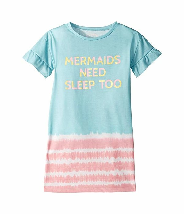 PJ SALVAGE TODDLER GIRLS MERMAIDS NEED SLEEP TOO GOWN - SIZE 2 T ONLY