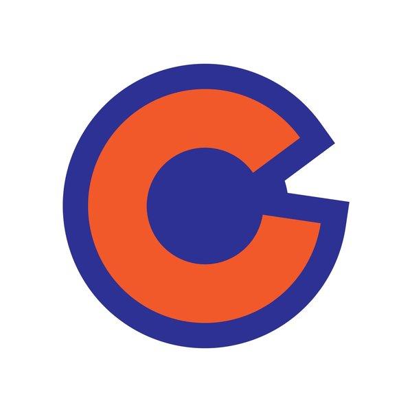 COLORADO BIG C ROYAL/ORANGE STICKER
