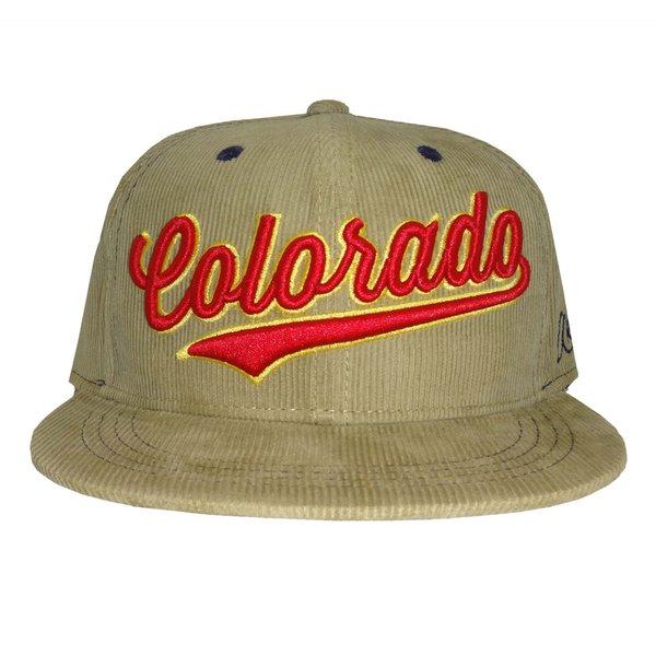 CURSIVE COLORADO CORDUROY SNAPBACK HAT-KHAKI