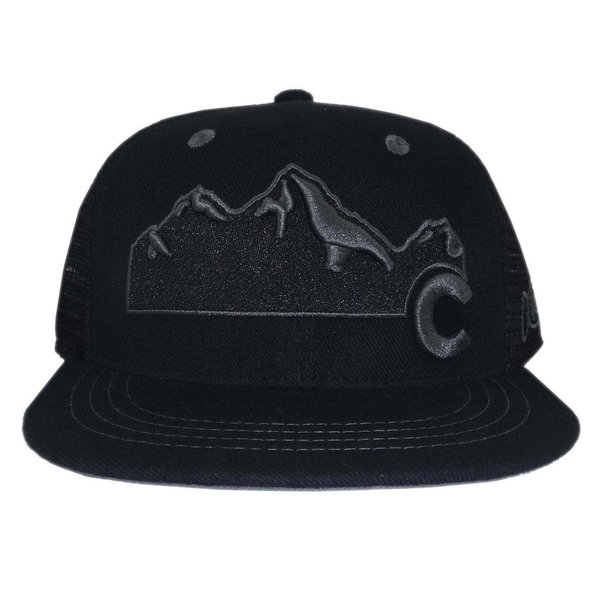 COLORADO MOUNTAIN TRUCKER HAT - ALL BLACK