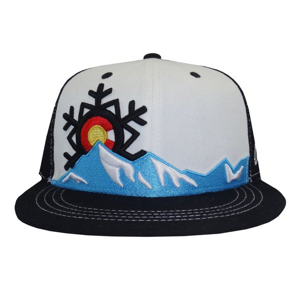 COLORADO SNOWFLAKE TRUCKER HAT-WHITE