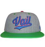 AKSELS CURSIVE VAIL SNAPBACK HAT