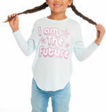 PRESCHOOL GIRLS I AM THE FUTURE L/S TEE - SIZE 2 ONLY